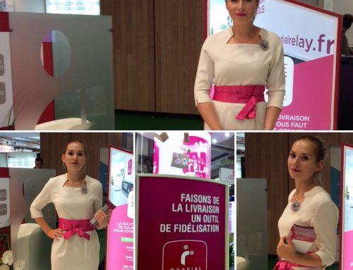 L'agence Elegance hôtesses au Salon E-COMMERCE avec Mondial Relay….