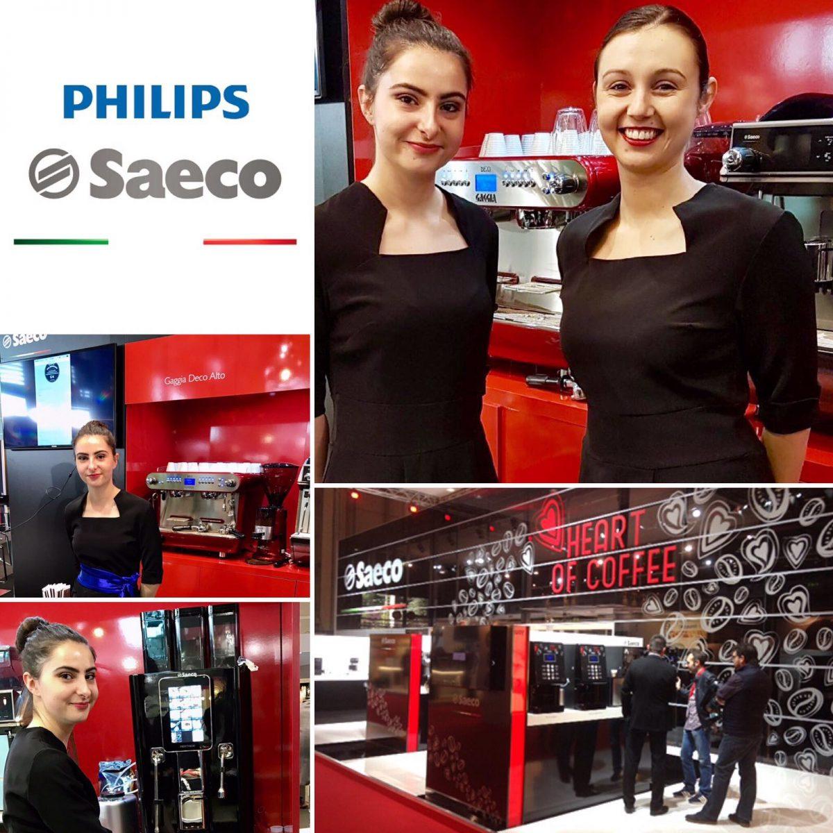 Agence d'hotesses Agence Elegance hotesses au salon Vending Paris pour SAECO Philips